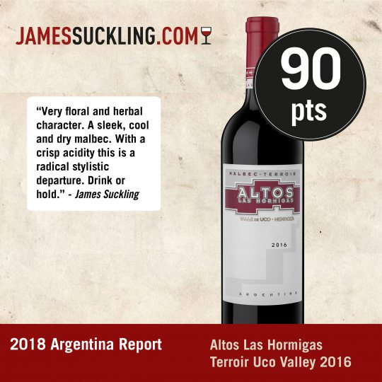 ALH TERROIR  MALBEC VALLE DE UCO 90 PUNTOS  JAMES SUCKLING 2018 ARGENTINA REPORT